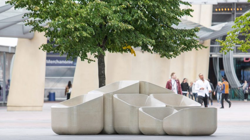 Raw Edges Creates Concrete Armchairs For Greenwich Peninsula Dezeen Howldb