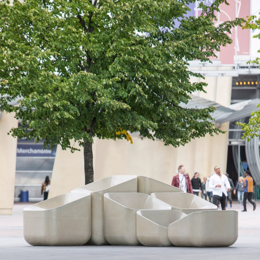 Raw Edges Creates Concrete Armchairs For Greenwich