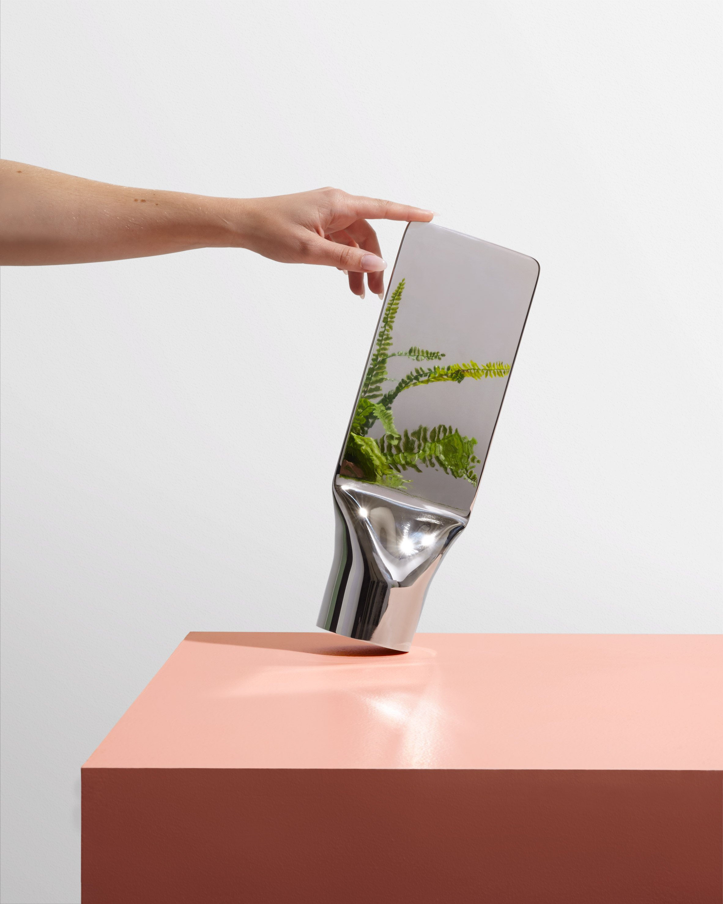 Philippe Malouin's Press mirror is made from a single metal tube