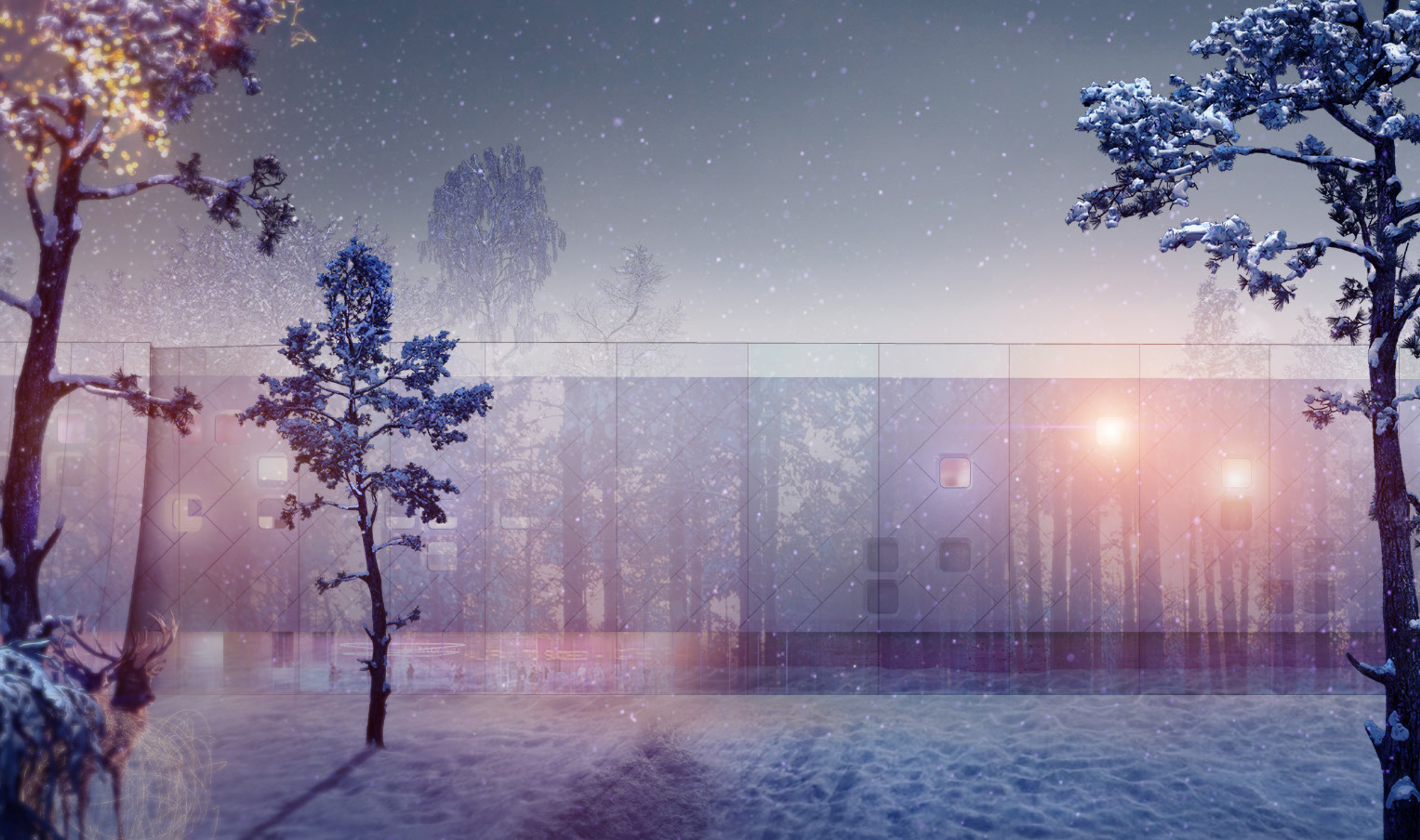 "Architects and designers invited to reimagine a shopping centre as a ""winter wonderland outlet"""