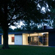Villa X is a Dutch house with windows that protrude inwards and outwards