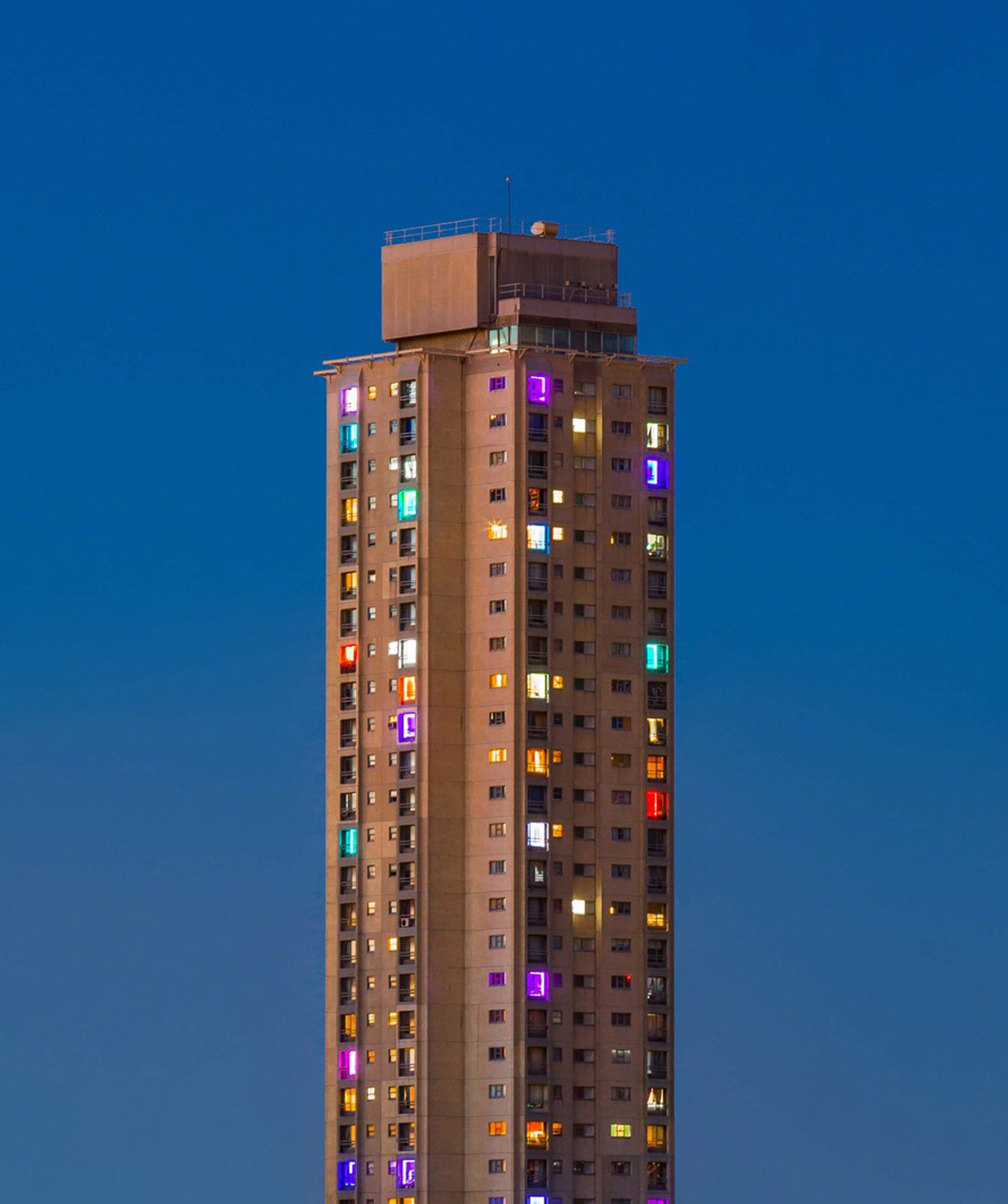 We Live Here public housing art design in Sydney.