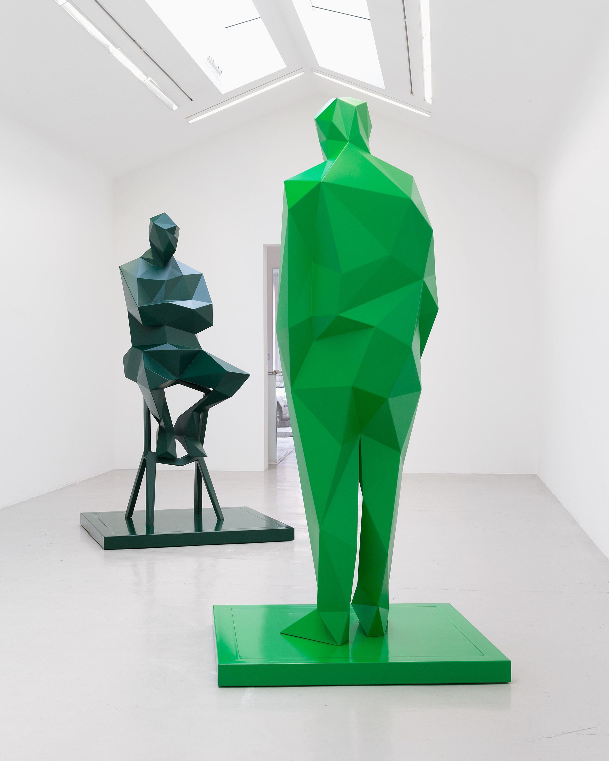 Sculptures of Richard Rogers and Renzo Piano will sit opposite the Centre Pompidou