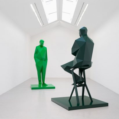 Sculpture of Renzo Piano and Richard Rogers by Xavier Veilhans