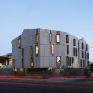 Tighe Architecture creates sculptural grey apartment building for LA's Filipinotown
