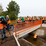 """World's first"" 3D-printed concrete bridge opens in the Netherlands"