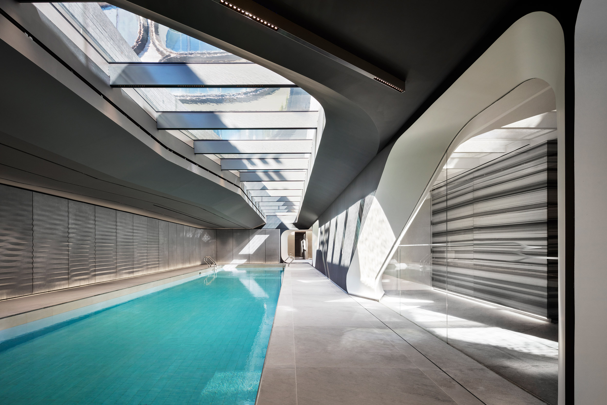 Zaha Hadid's amenity spaces for 520 West 28th shown in new photos