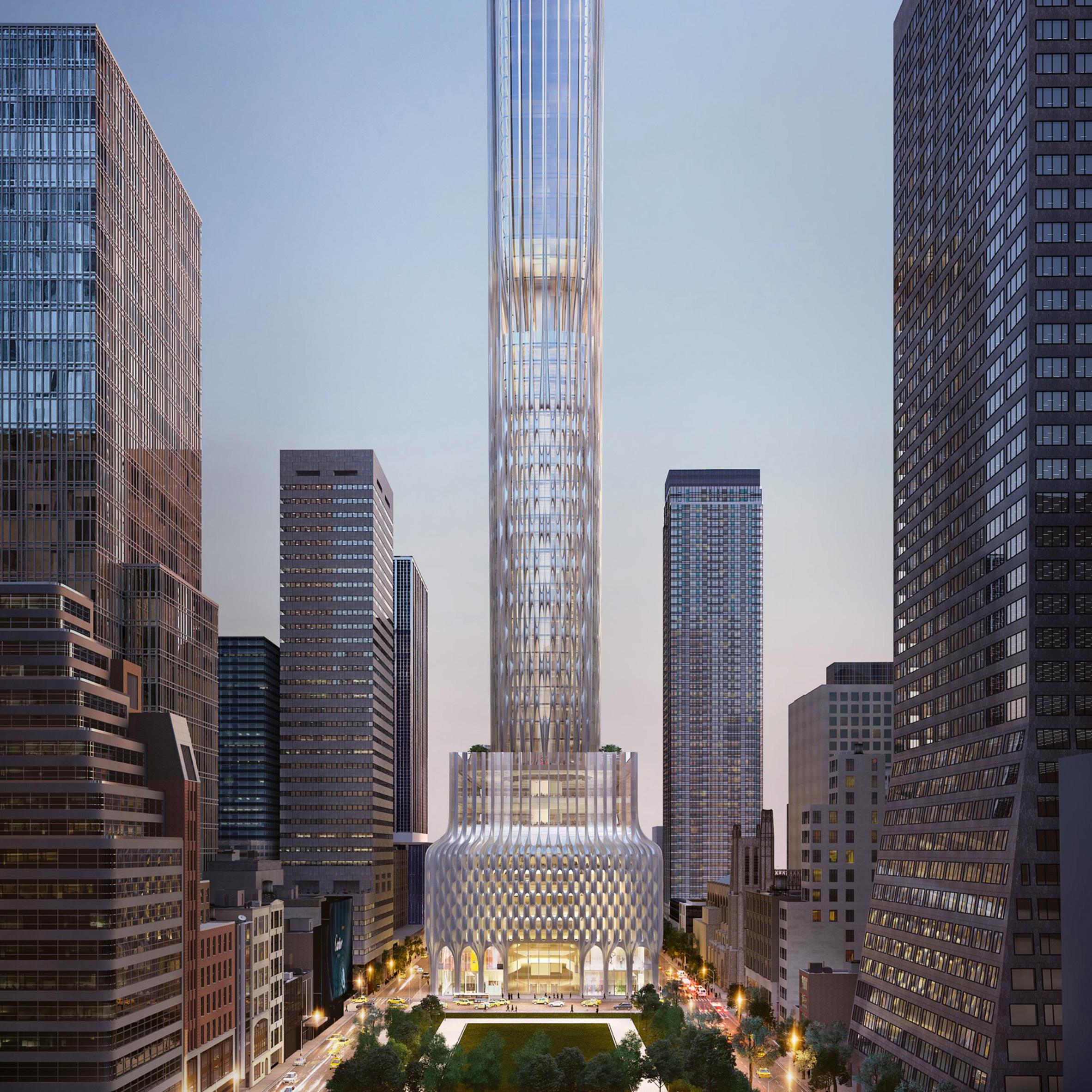 666 Fifth Avenue skyscraper proposal by Zaha Hadid Architects