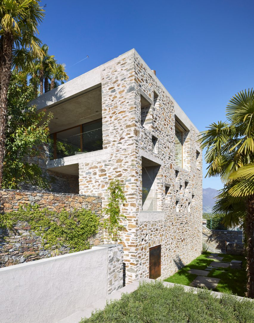 Wespi de Meuron Romeo uses stone and plaster for lakeside house on local movies, local storage, local market design, local pool, local heroes design, local art,