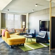 Ace Hotel Chicago features colourful mid-century-style interiors by Commune