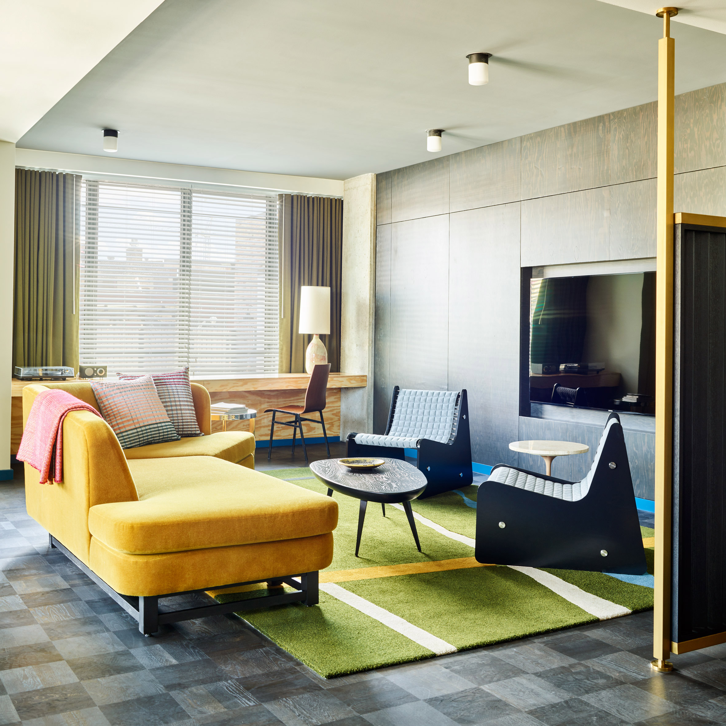 Ace Hotel Chicago Features Colourful Mid Century Style Interiors By Commune Part 52