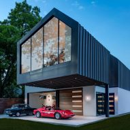 Matt Fajkus designs asymmetric Austin residence for vintage car lover