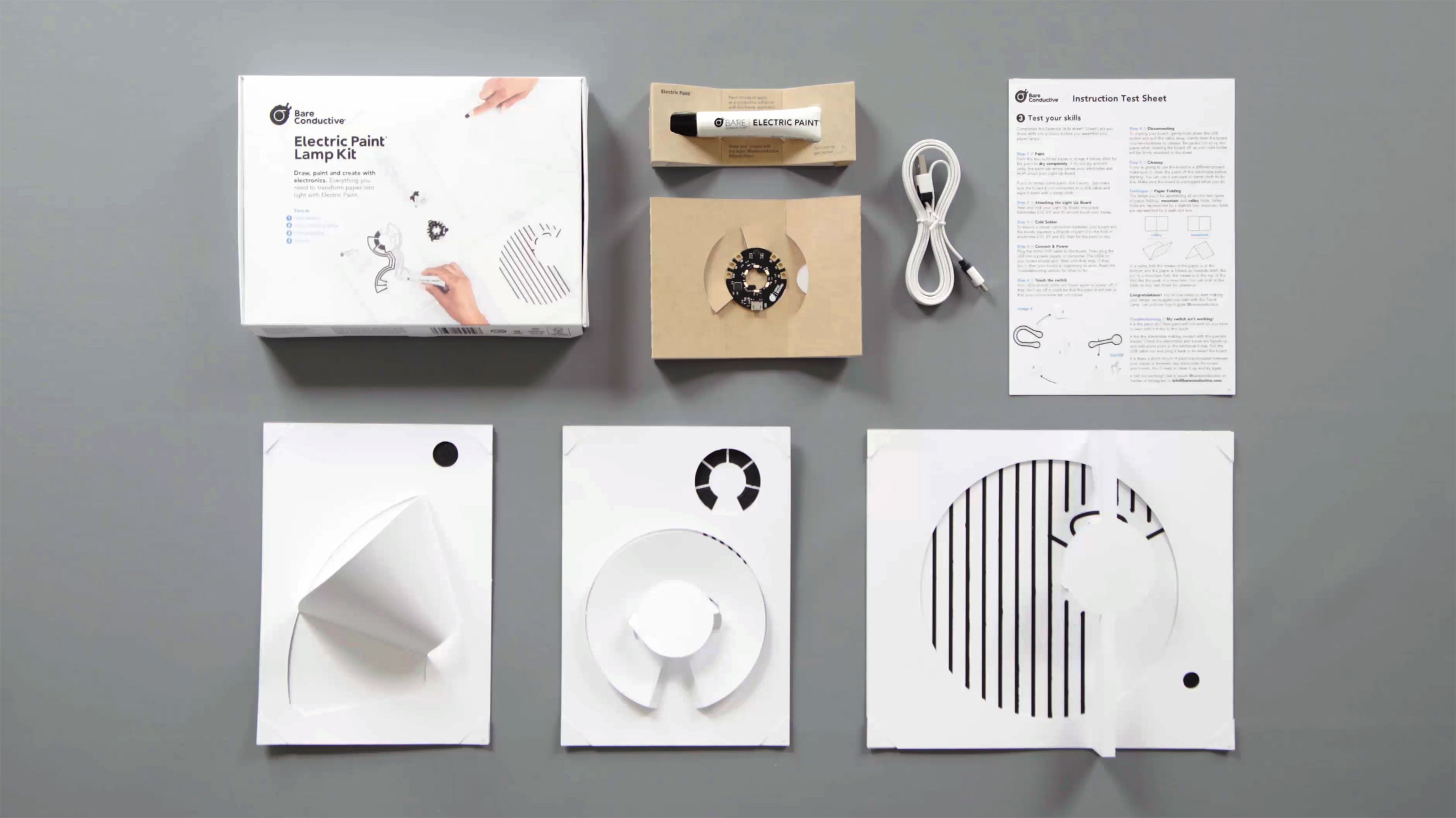Bare Conductive unveils DIY kit for assembling a lamp from a piece of paper