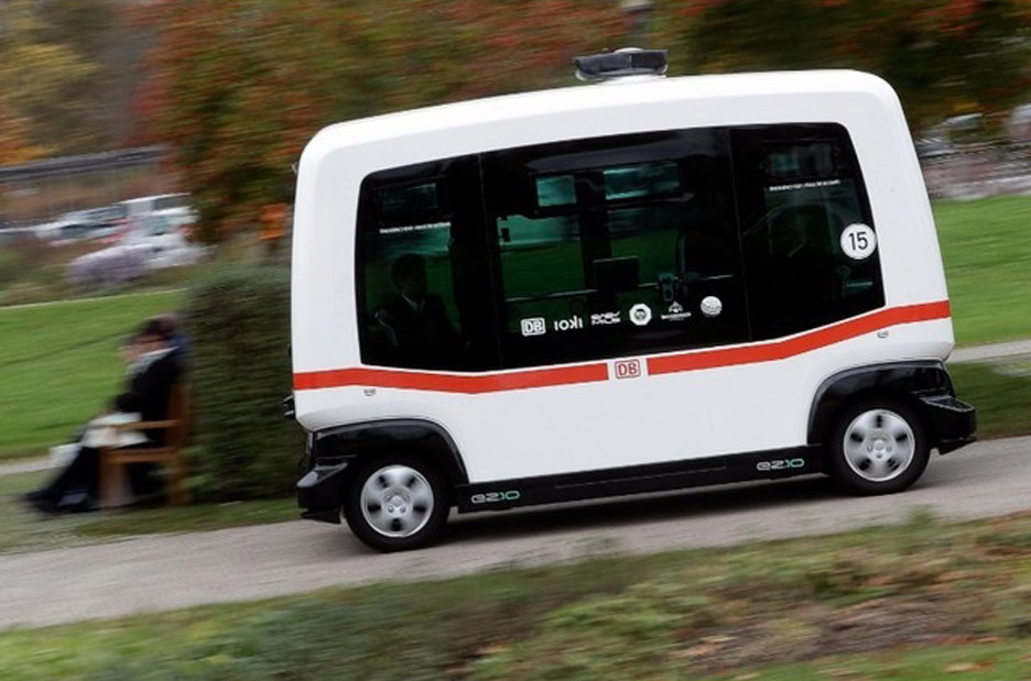 Germany's first driverless bus takes to the roads