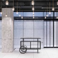 Neri&Hu uses translucent glass blocks for walls of bright and flexible function room in Beijing