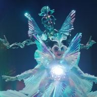 Prismatic visuals and floating beings feature in Björk's music video for The Gate