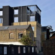 Black House is a duplex apartment above a converted Victorian warehouse in Hackney