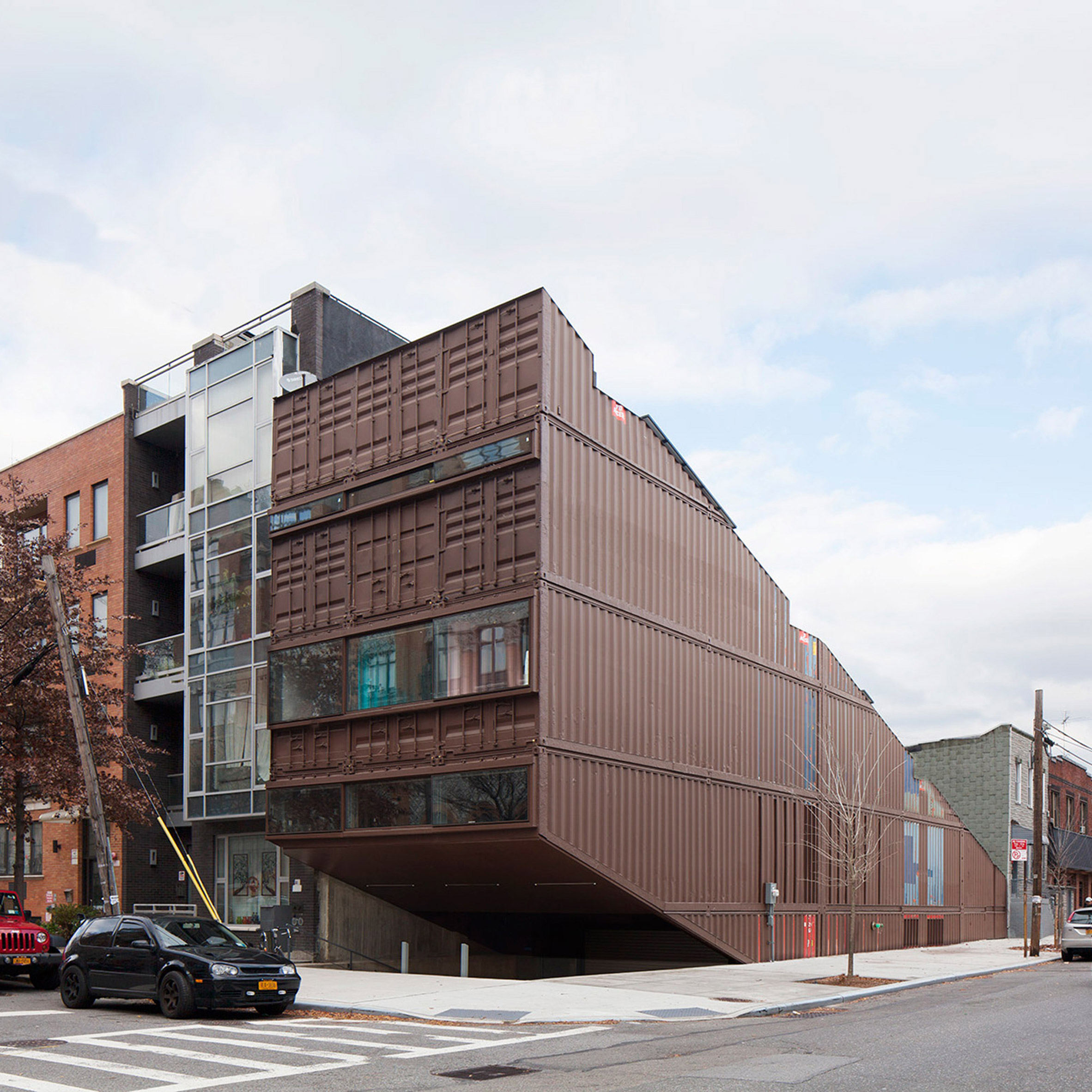 LOT-EK slices shipping-container stack to form Williamsburg home