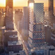 3XN unveils staggered residential high-rise with spaces for Toronto's LGBTQ community