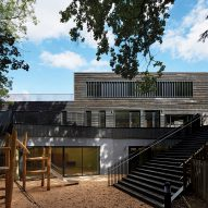 School extension by DSDHA features rough-edged timber cladding and outdoor learning spaces