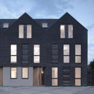 Denizen Works pairs black bricks with pointy panels for Haddo Yard housing in Whitstable