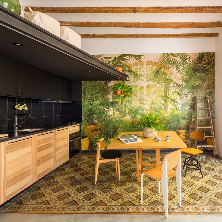 Barcelona Apartment View: Existing Decor Leads Nook Architects' Redesign Of