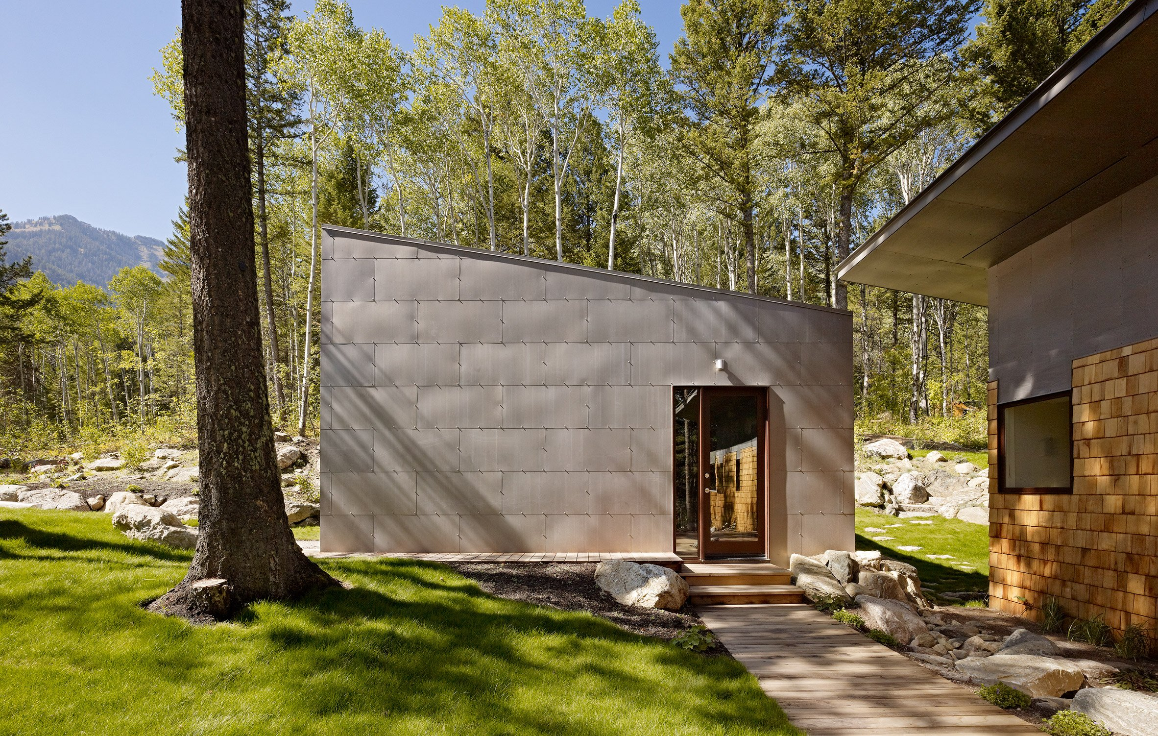 Carney Logan Burke spends five years creating Wyoming retreat clad in cedar and steel
