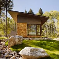 Carney Logan Burke spends five years creating Wyoming retreat clad in cedar and steel