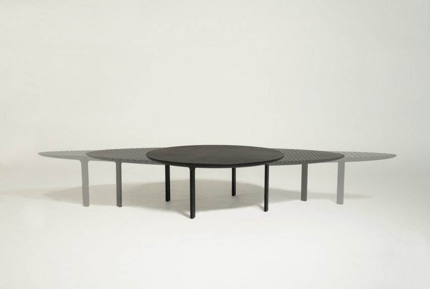 Heatherwick Studiou0027s Friction Table Expands To Adapt To Different ...
