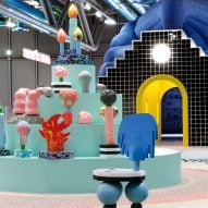 To celebrate the Centre Pompidou's fortieth anniversary, Paris-based studio GGSV have designed an interactive installation for children in the building's Galerie des enfants exhibition space.