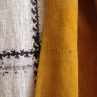 Kelly Gijsen patterns cotton scarves using ink made from pollution