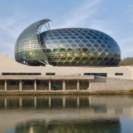Shigeru Ban's La Seine Musicale incorporates a wall of moving solar panels