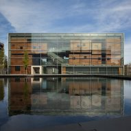 Steven Holl's arts complex for Princeton surrounds courtyard reflecting pool