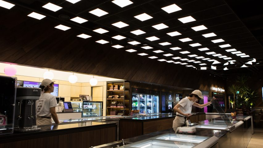 LG Display's OLED panels create decorative lighting for Baskin Robbins ice cream shop