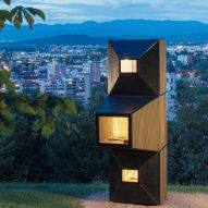 OFIS Arhitekti uses modular Living Units to create pop-up library overlooking Ljubljana