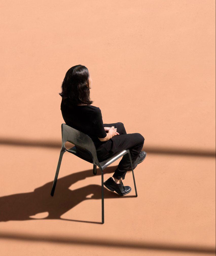 ECAL graduate Thomas Missé has designed a carbon fibre chair for life on mars