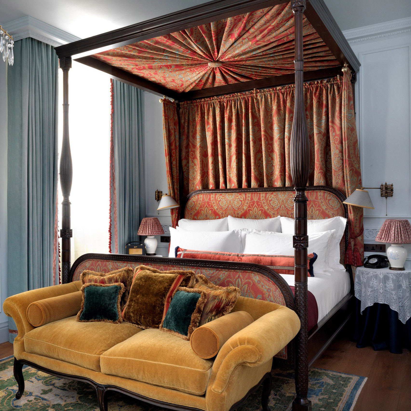 10 opulent interiors that spurn minimalism for rich colours and textures