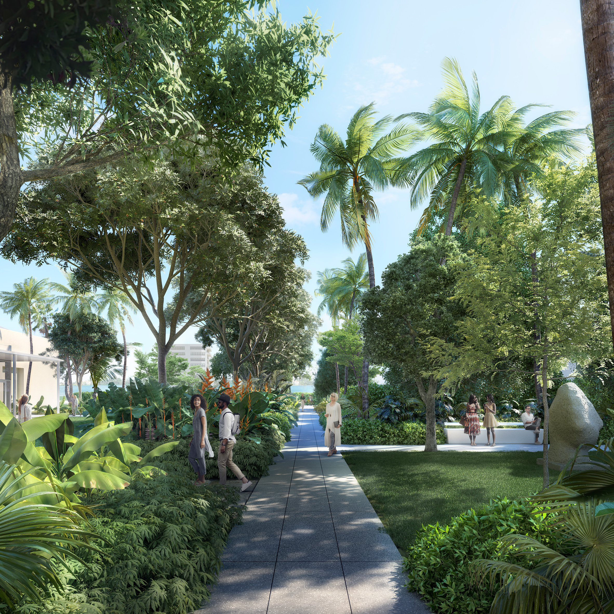Foster reveals botanic sculpture garden for Florida\'s Norton Museum ...
