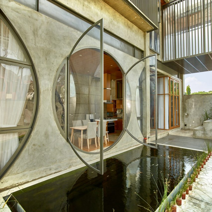 8a7545c75aab ... apertures shaped like houses feature in this week's roundup of popular  images from Pinterest, which showcases buildings that use windows as  decoration.