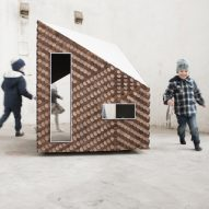Giles Miller creates textured facade for children's playhouse