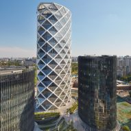 Latticed shell of SOM's Beijing tower is based on traditional Chinese paper lanterns