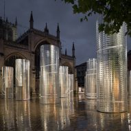 Pezo von Ellrichshausen installs 16 steel towers in Hull's historic Trinity Square