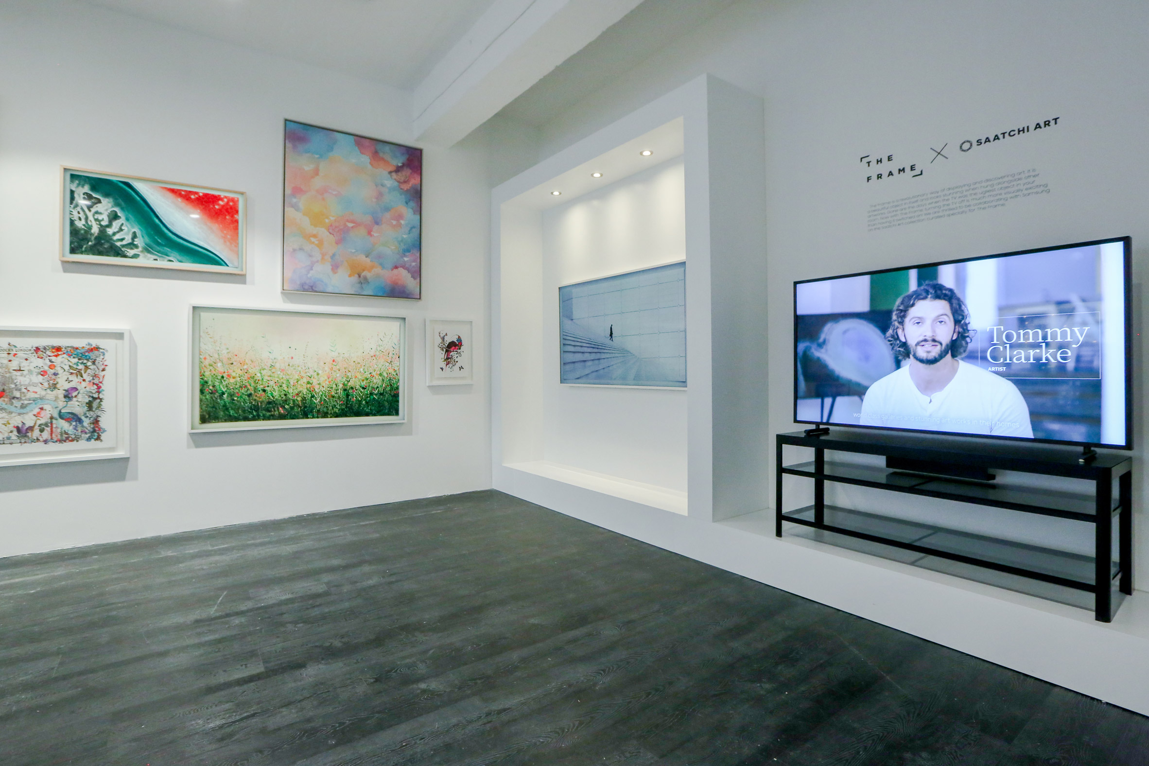 samsung s the frame television makes buying art as common. Black Bedroom Furniture Sets. Home Design Ideas