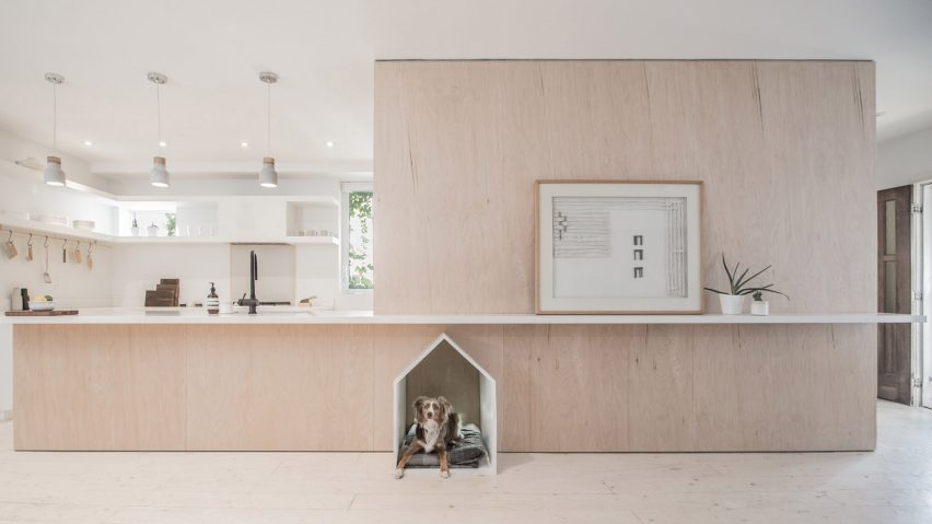 Studioac Inserts Plywood Unit Complete With Dog Bed Into Toronto Home