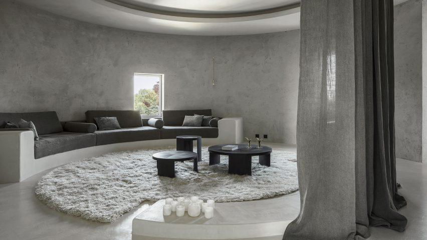 Arjaan De Feyter Creates Round Monochrome Living Spaces In Former Silo  Building Near Antwerp