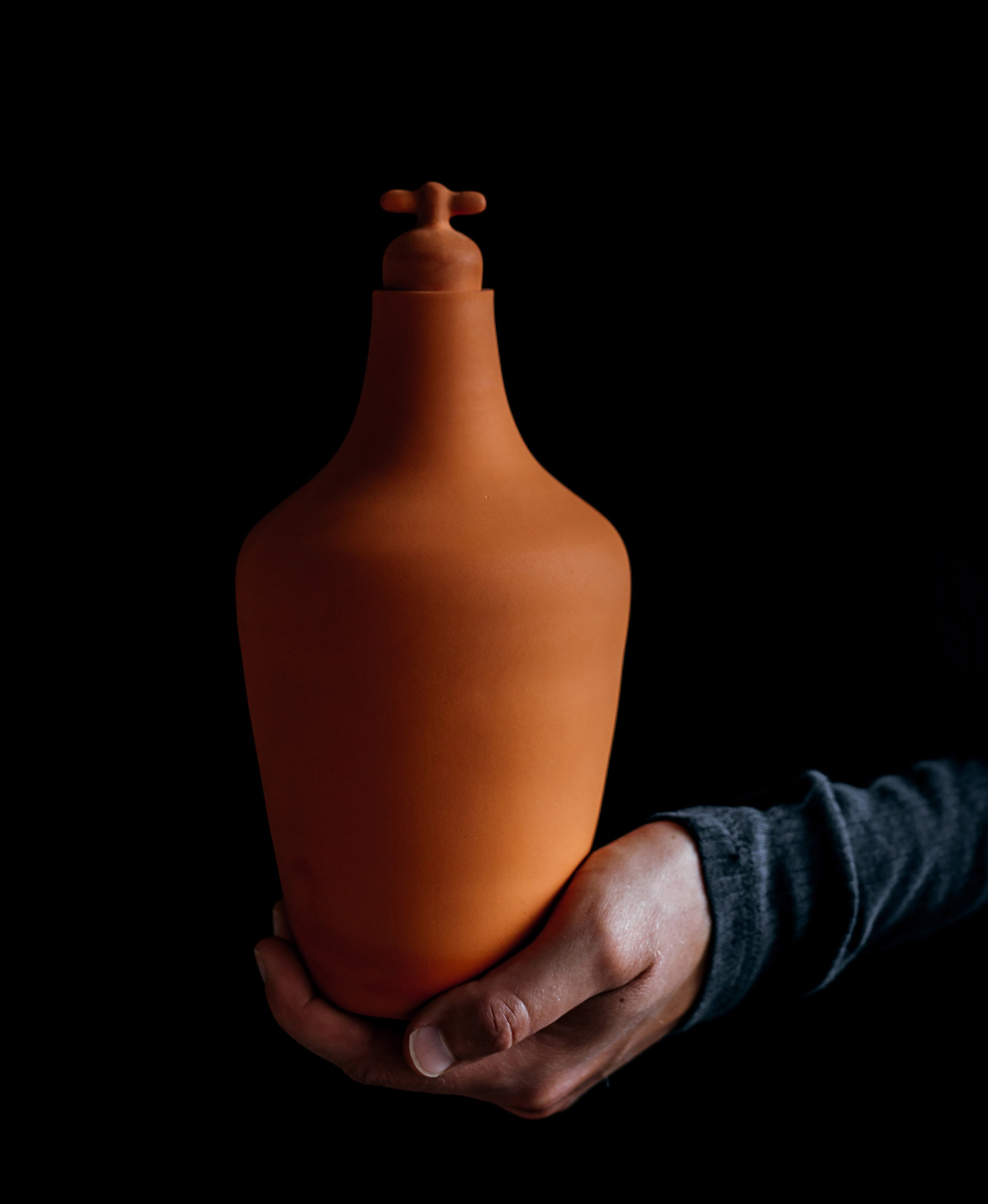 Lotte de Raadt's terracotta carafes are designed to encourage people to drink tap water