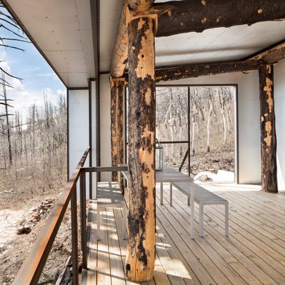 carney logan burke designs cabin for fire ravaged wyoming mountainside - Cabin Interior Design Photos