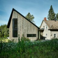 Anik Péloquin creates contemporary addition for historic cottage in rural Quebec