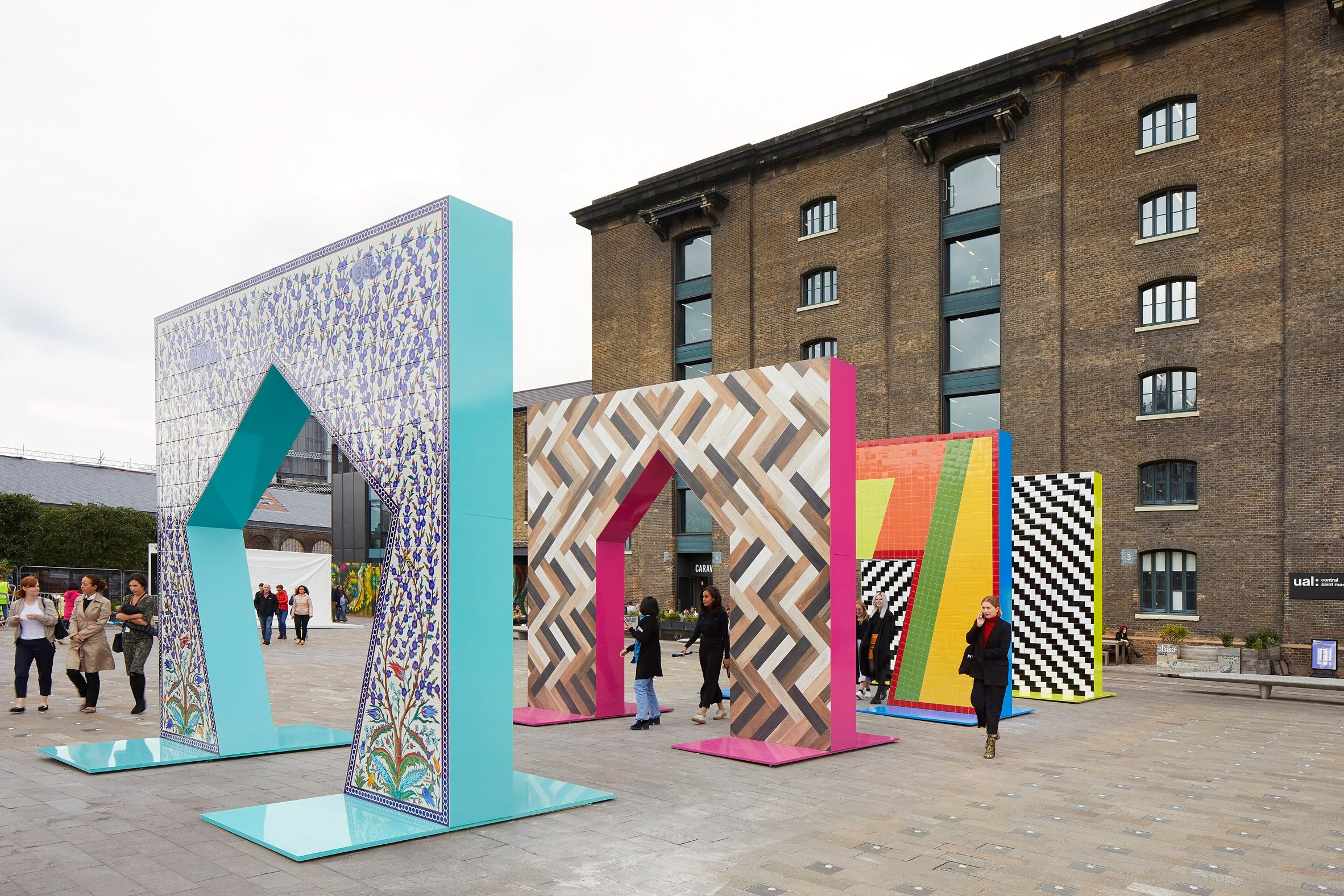 Adam Nathaniel Furman creates sequence of tiled archways at London Design Festival