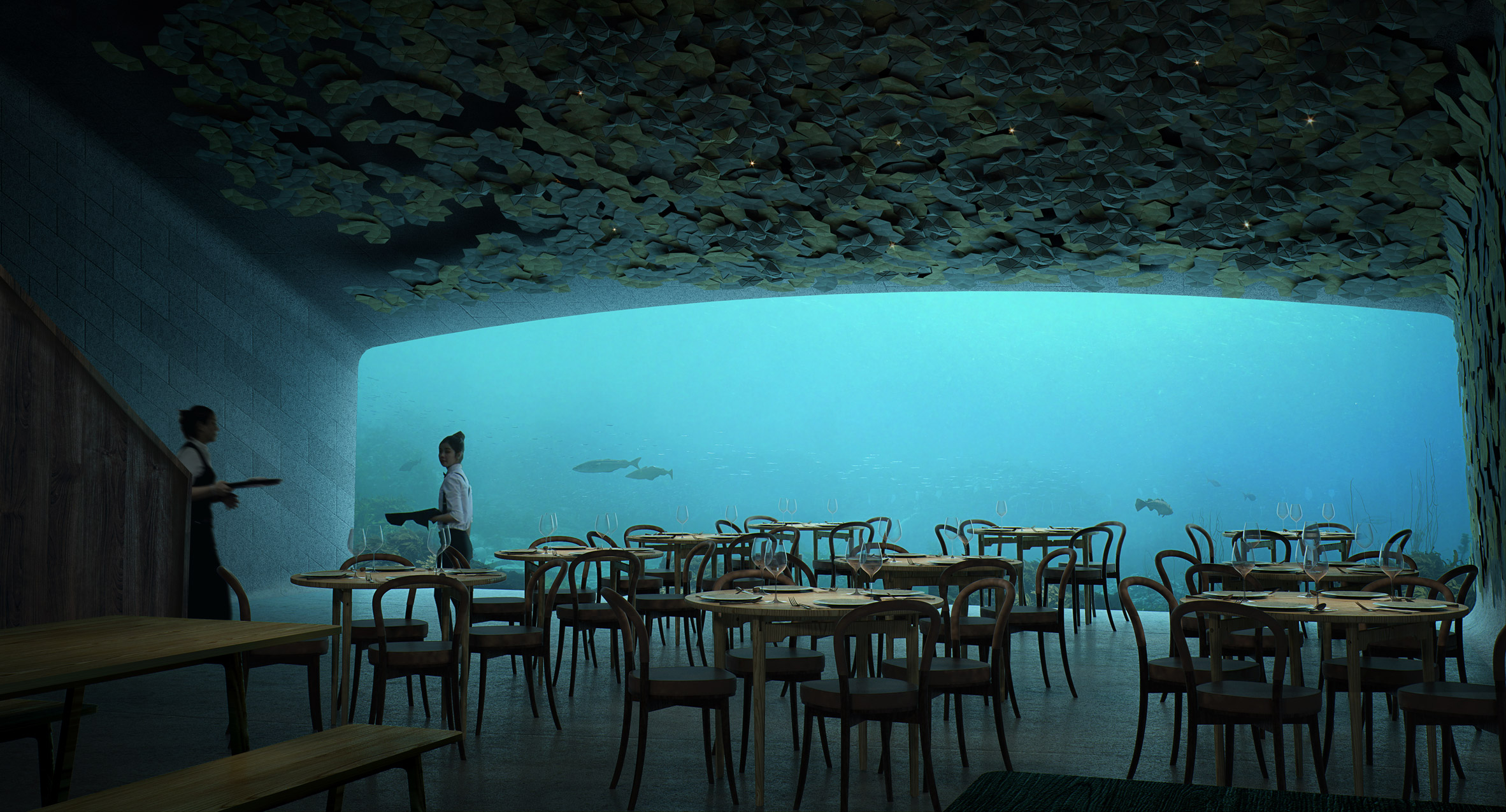 "Snøhetta unveils plans for ""Europe's first underwater restaurant"""